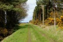 Track following course of old railway north from Leuchars.