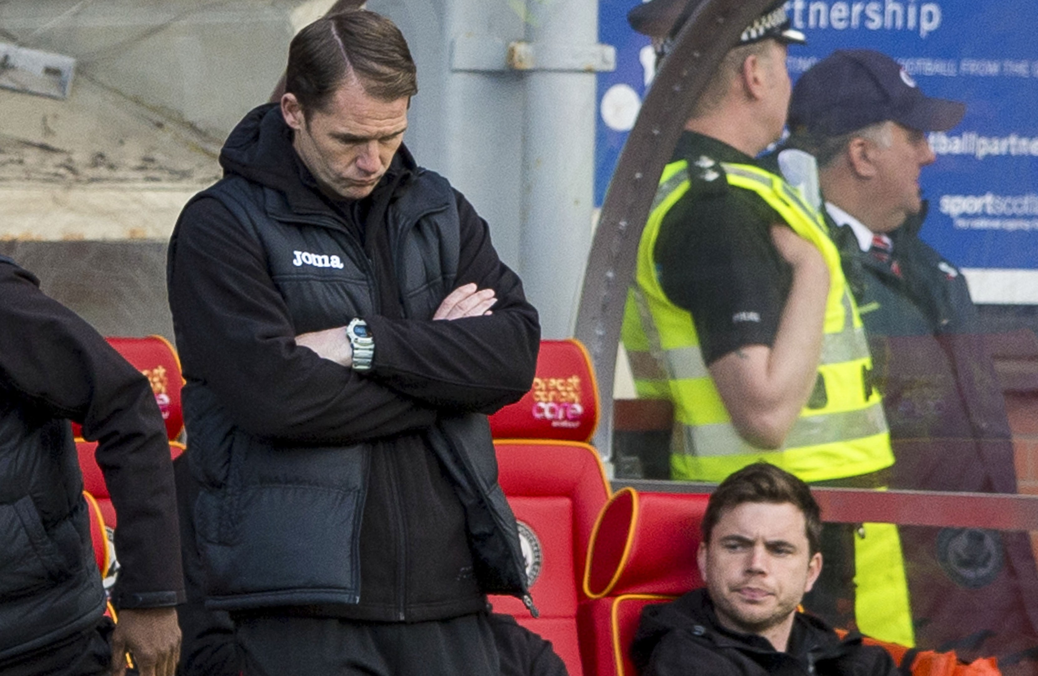 Partick Thistle manager Alan Archibald feels the pressure.