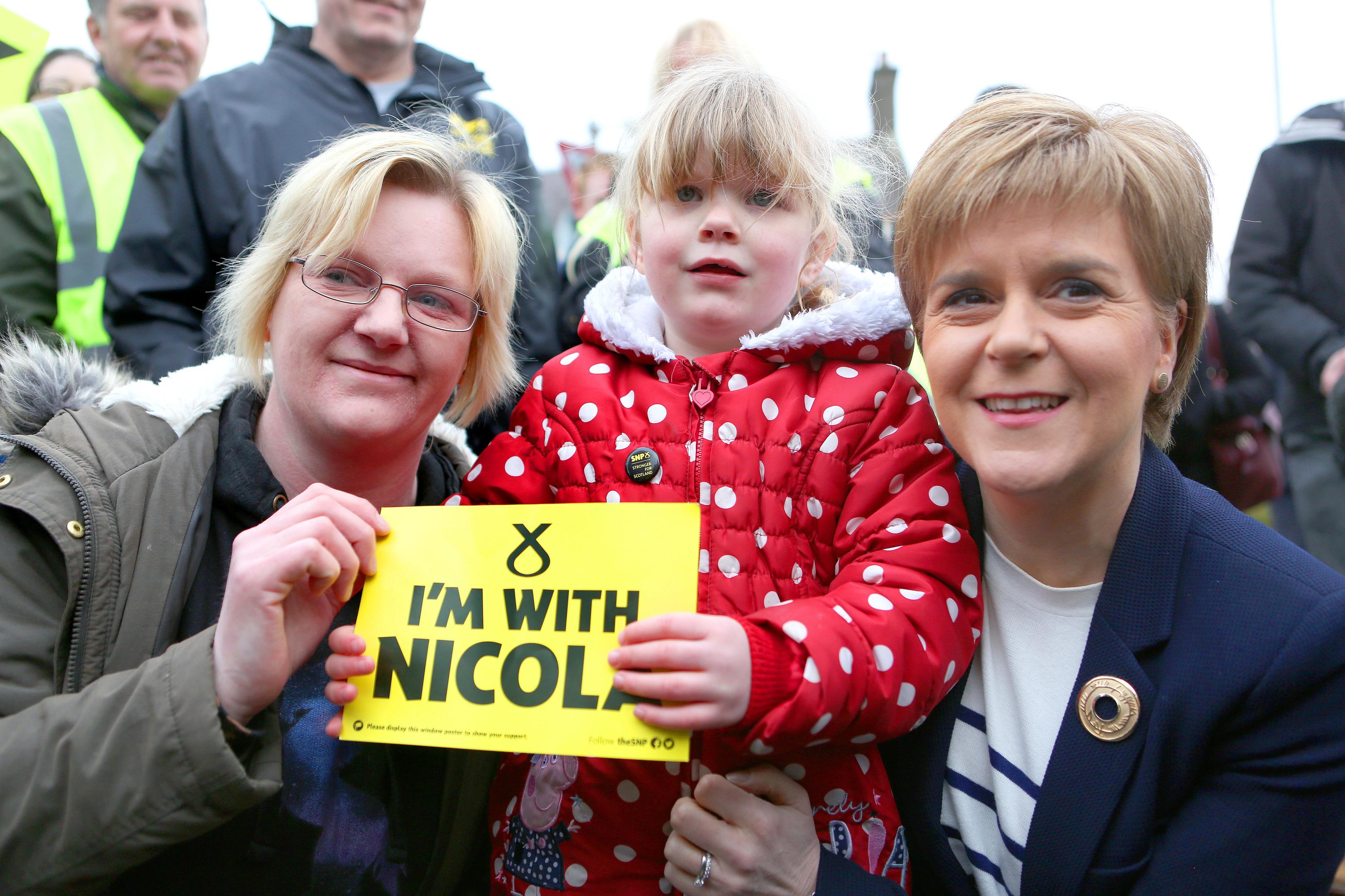 Nicola Sturgeon on the campaign trail in Fife.