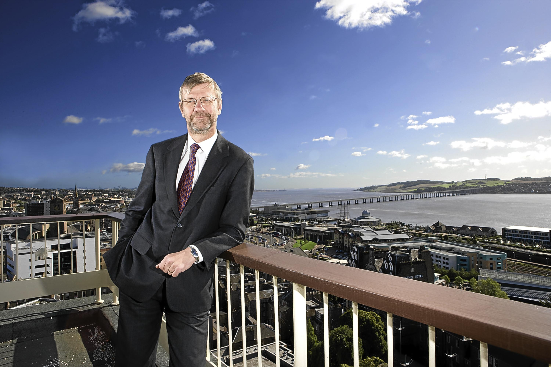 Prof Sir Pete Downes , principal of Dundee University