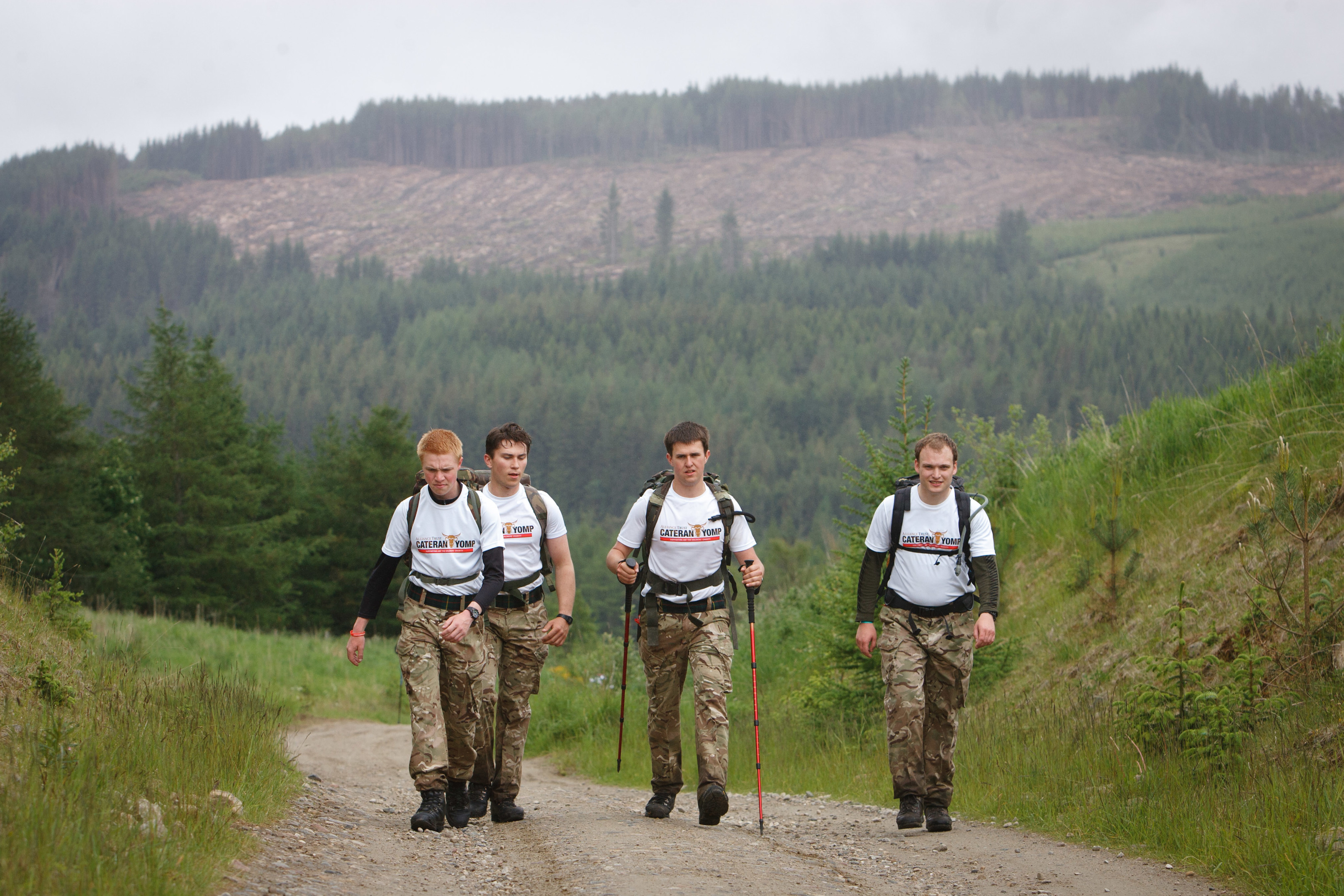 Intrepid yompers on the gruelling route.