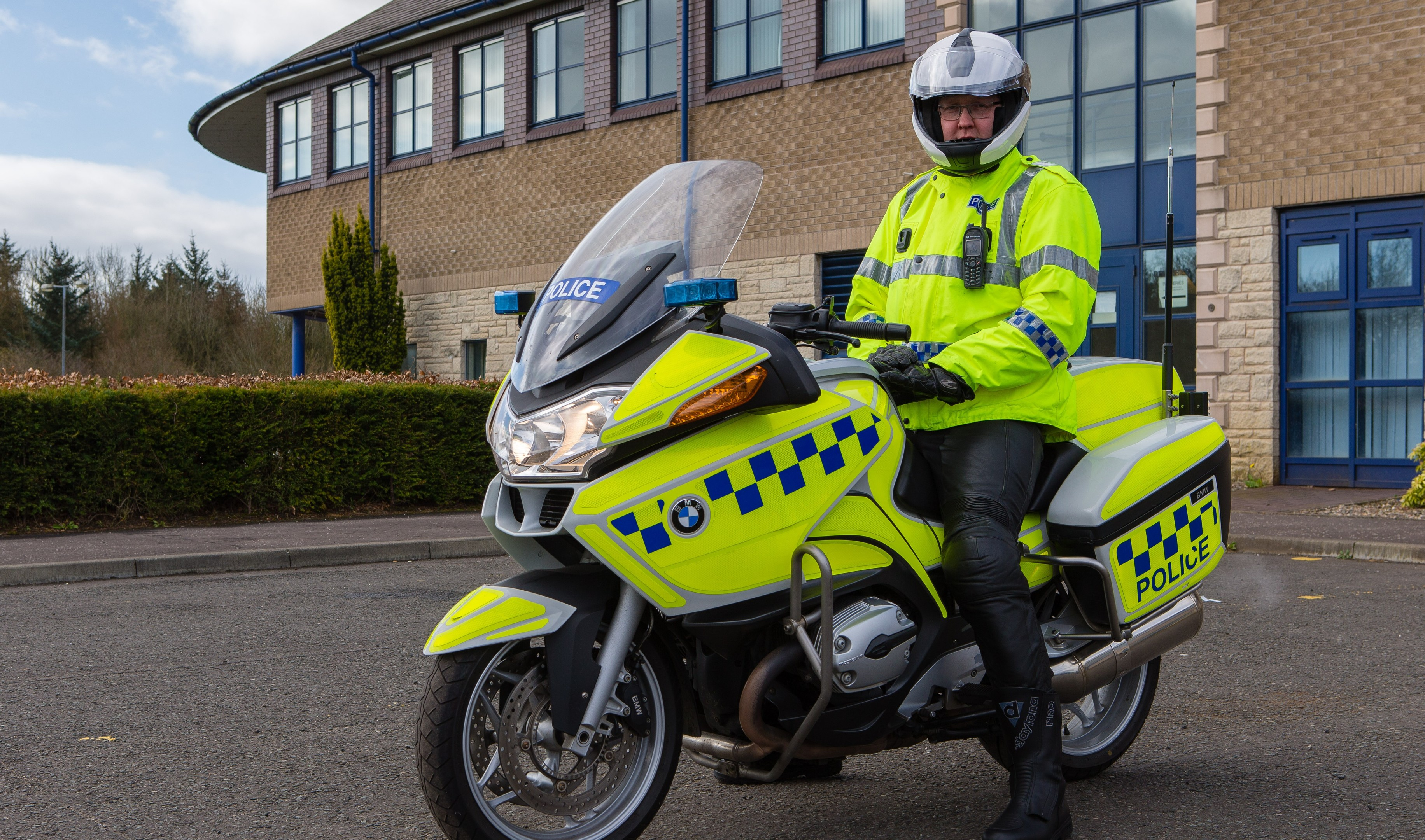 PC Alastair Purvis of Police Scotland Motorcycle Patrol is hoping to raise awareness of motorcyclists especially in the North East of Fife as summer approaches and to make drivers aware to keep an eye out for bikes as they visit the towns on the coast. Increased visible presence will be noticed.