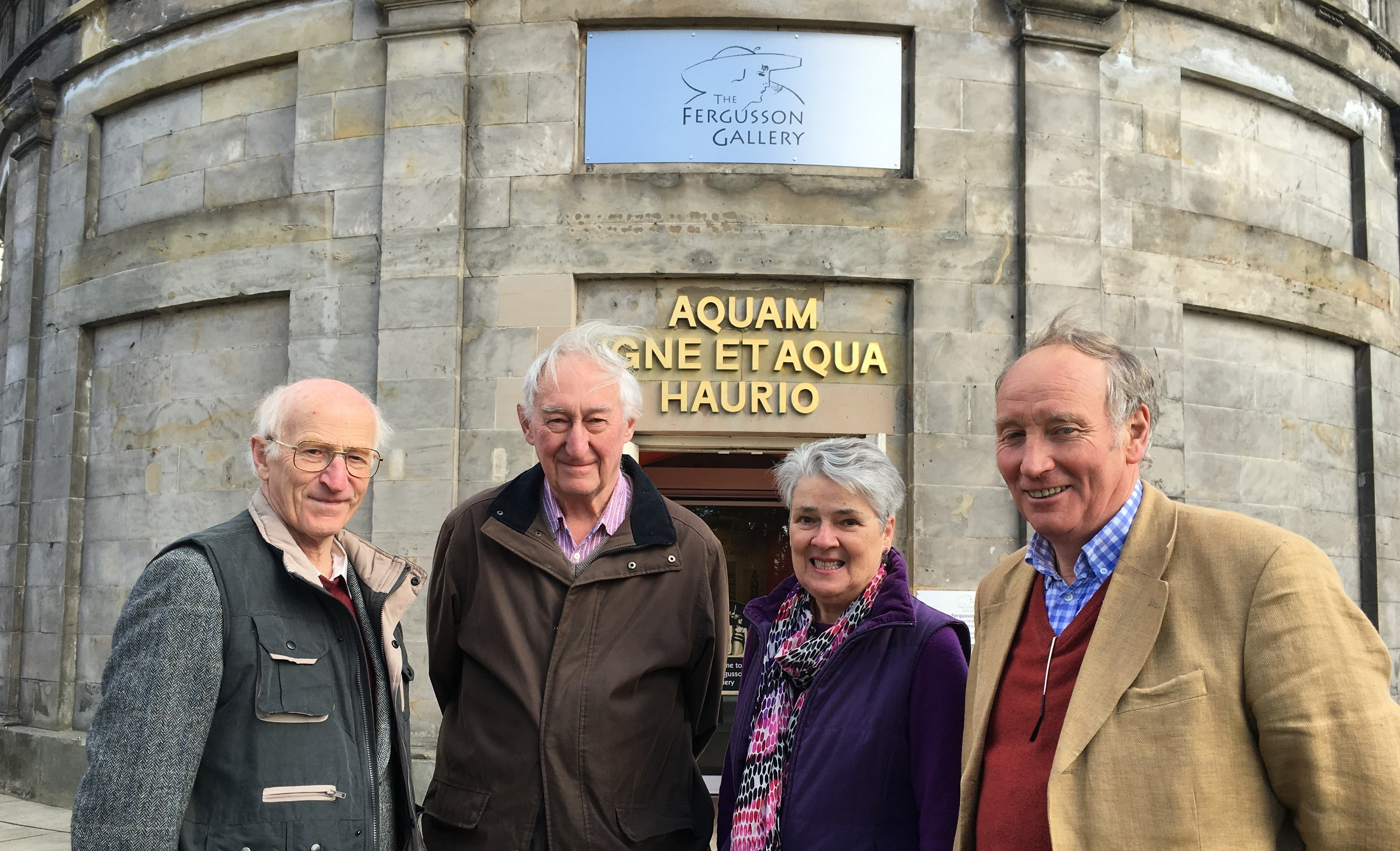 Perth Civic Trust committee members John Kinloch, Sandy Bremner, chairman, Sue Hendry and David MacLehose at the JD Fergusson gallery.