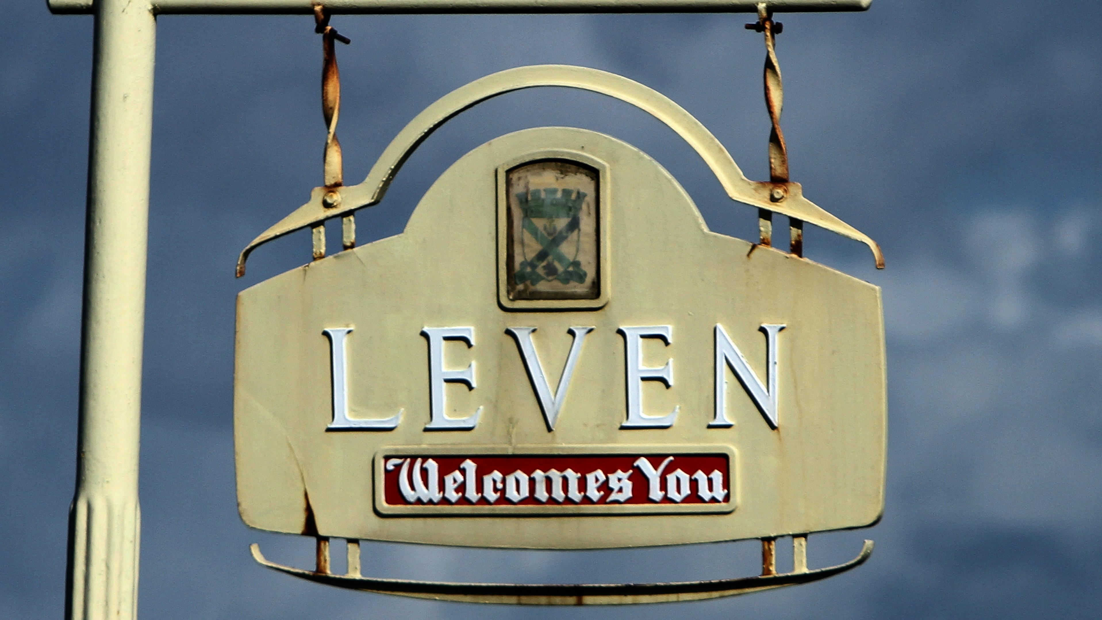 Kris Miller, Courier, Picture today shows general view of the Leven sign