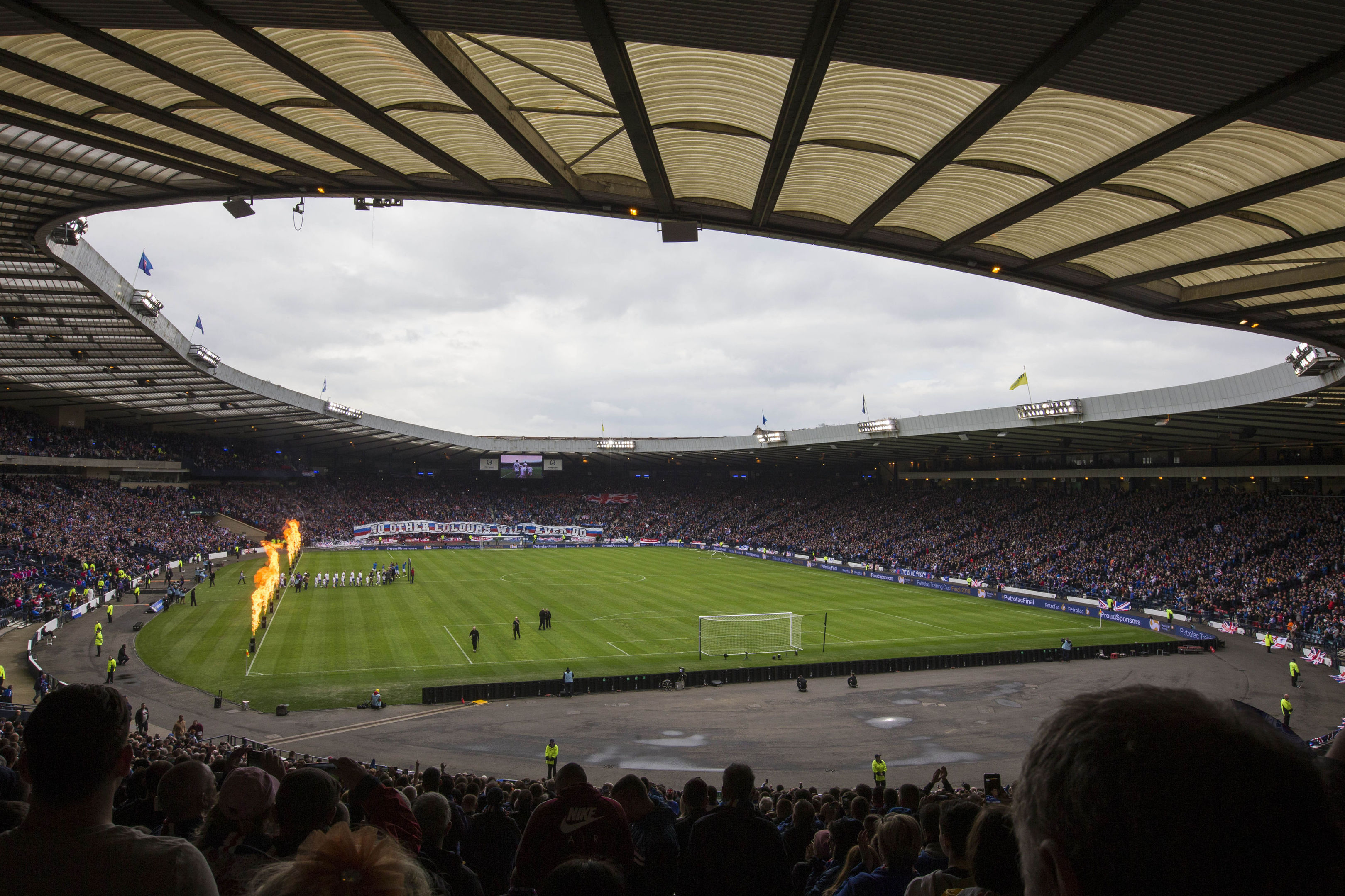 Fans can find themselves far removed from the action at Hampden Park.