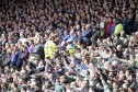 Opposing Old Firm fans at Hampden.