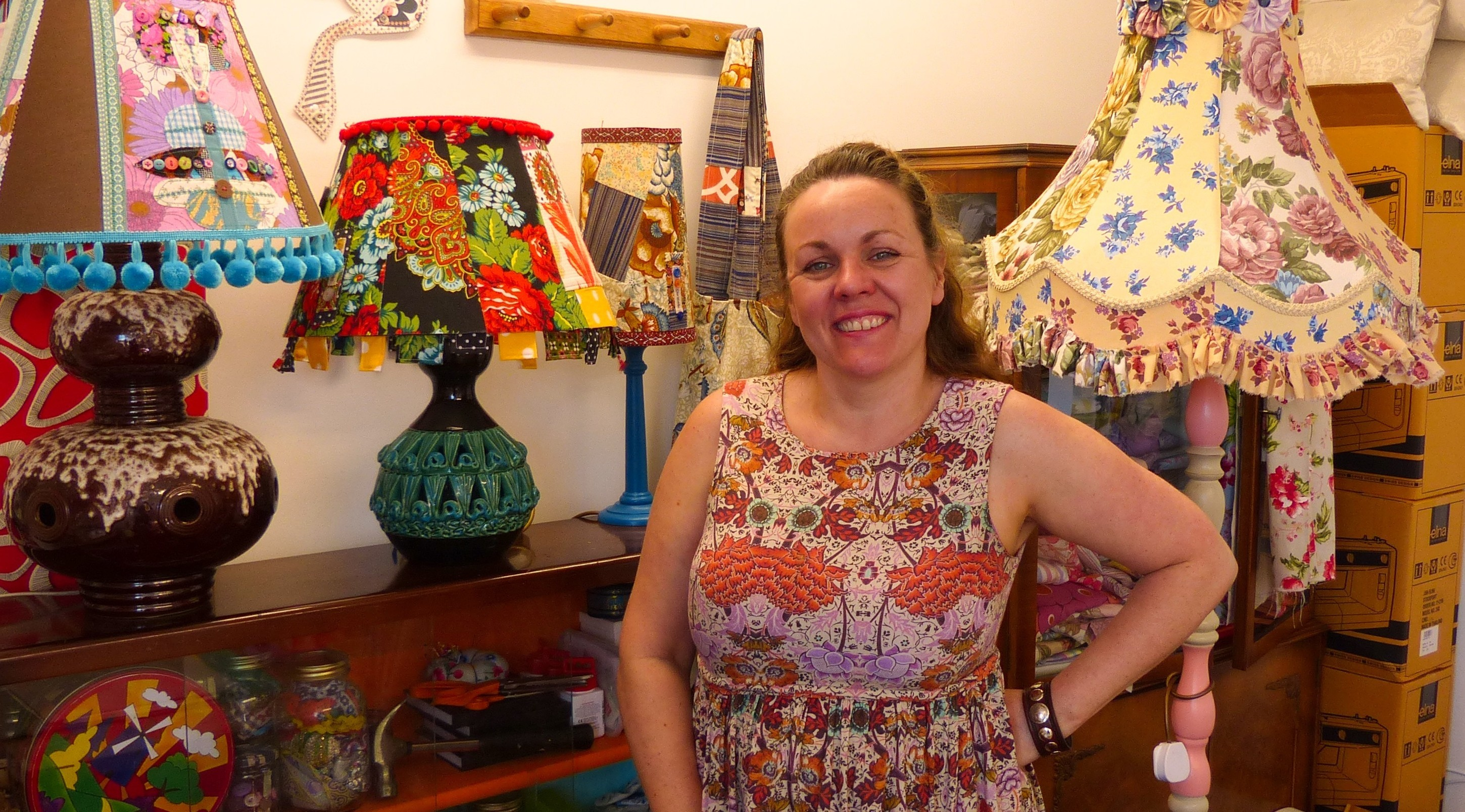 Claire Christie, who is based at the Fire Station Creative studios, will be holding a workshop on lampshade making