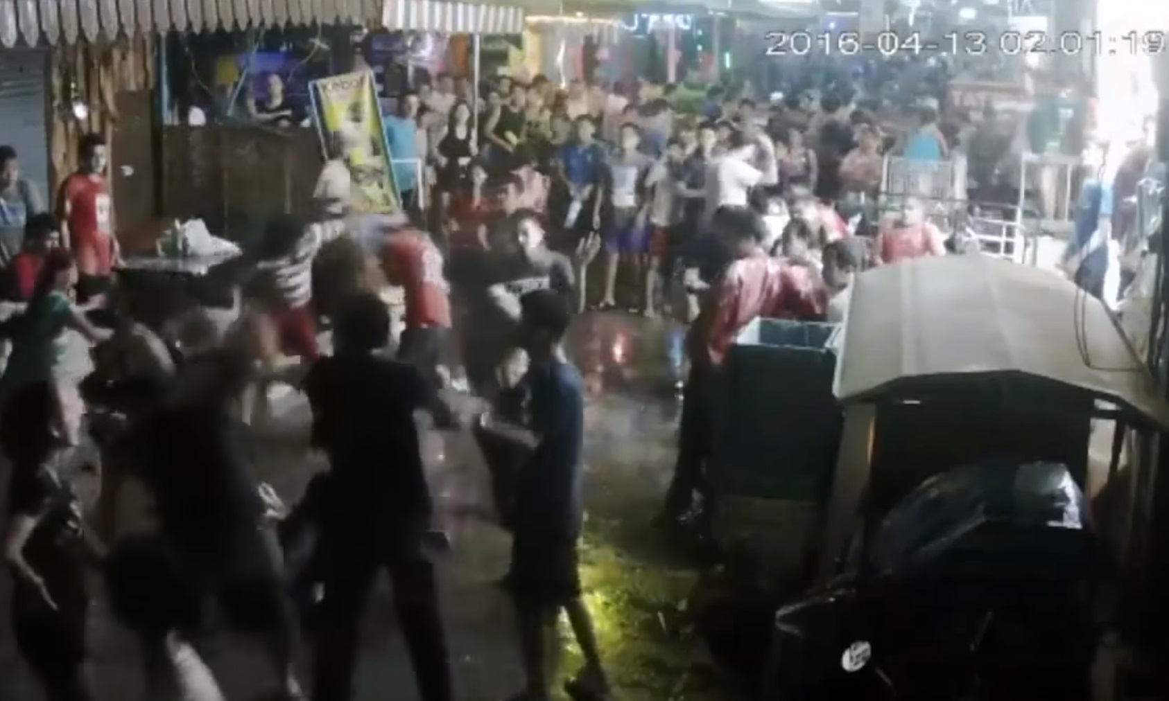 The attack happened on a busy street.