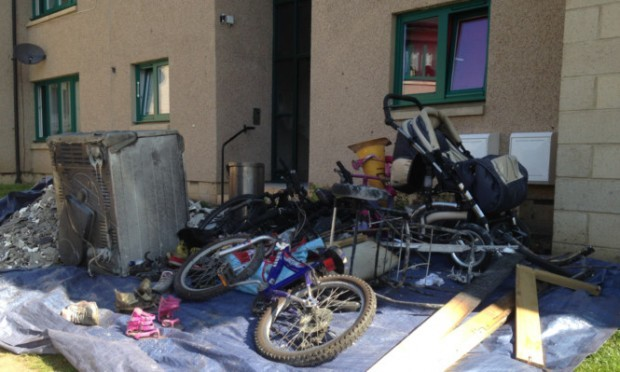 Items that had to be removed from the close after the Blairgowrie blaze.