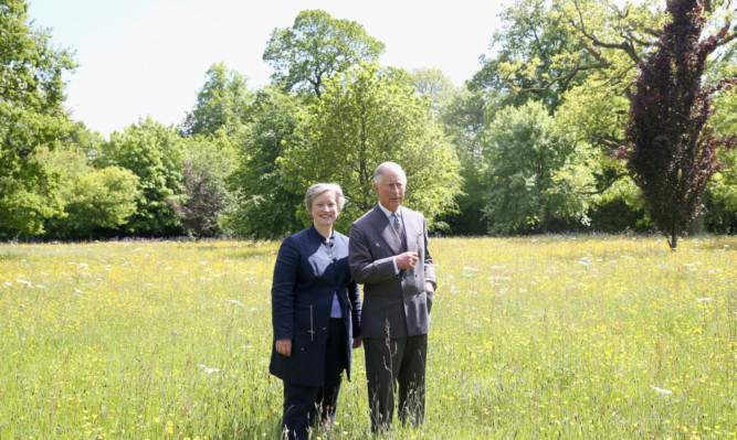 The Prince with Victoria Chester of Plantlife at Highgrove.
