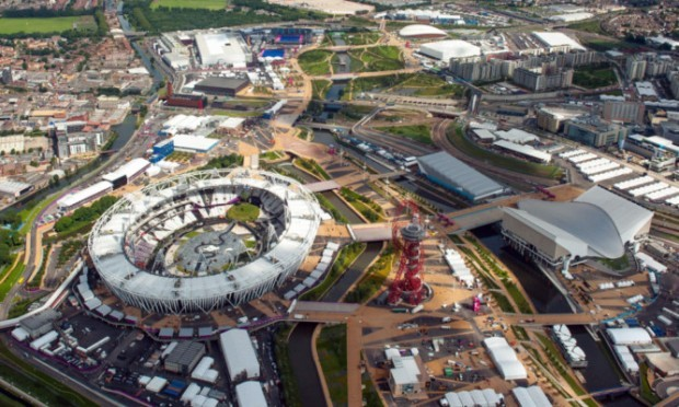 The Olympic Park, in Stratford, east London.