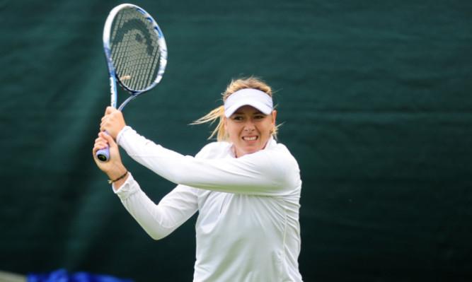 Maria Sharapova during practice.
