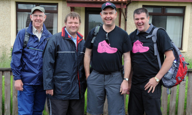 Set to walk: Hugh MacLean, Gordon McLaren, Alistair McIntyre and Kenny McIntyre.