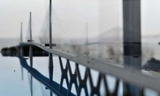A model of the new bridge.