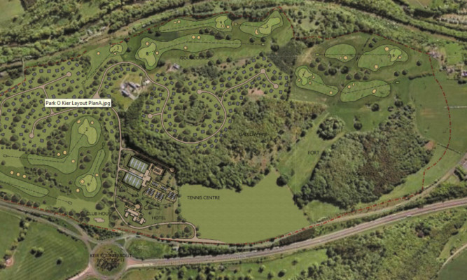 Judy Murray and Colin Montgomerie are behind plans to develop a tennis and golf academy in Stirlingshire.