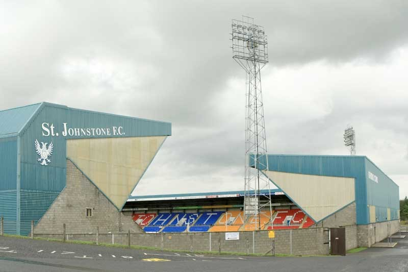 St Johnstone FC accounts etc announcement.    Pic shows McDiarmid Park, home of St Johnstone Football Club.