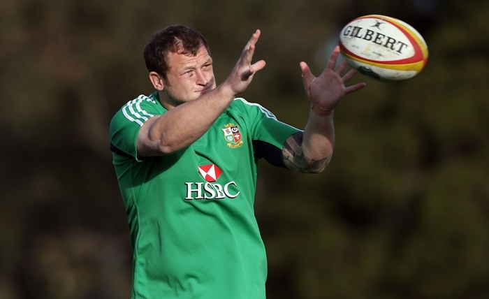 British and Irish Lions Ryan Grant during a training session at Scotch College, Melbourne, Australia.