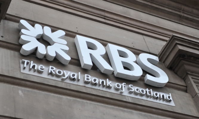 Kim Cessford - 05.01.13 - FOR FILE - pictured is the sign at RBS, High Street