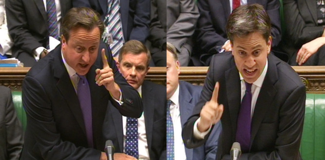 David Cameron and Ed Miliband clash over unions at Prime Ministers Questions