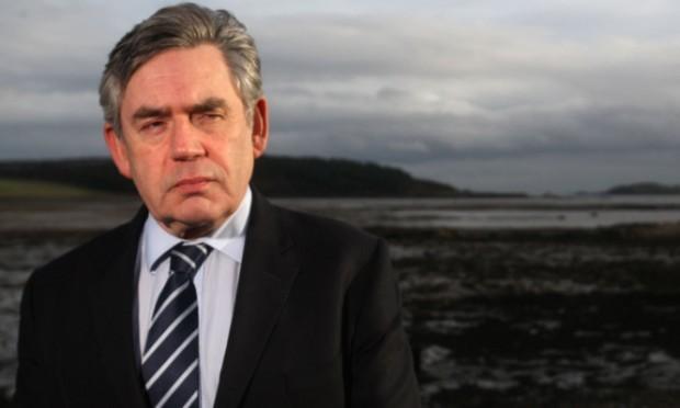 Gordon Brown at Dalgety Bay.