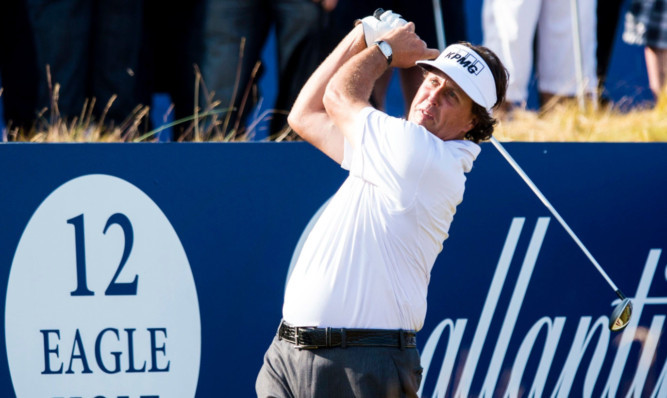Phil Mickelson during Thursday's first round.