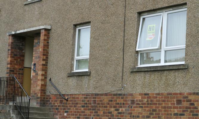 The flat in Loganlee Terrace.