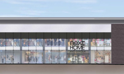 An artist's impression of the entrance to the new store.