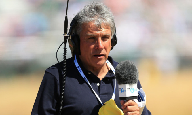 John Inverdale was back on air for the first day of the Open.