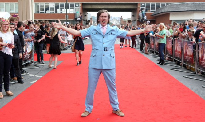 Alan Partidge attends the world premier of his new film Alfa Papa at the Hollywood Cimema in Norwich.