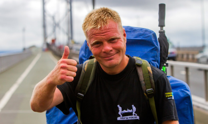 Christian Nock  is undertaking an epic 7500-mile charity walk around the UK's coastline for Help for Heroes.