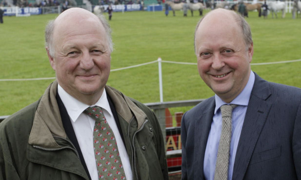 Sir Jim Paice (left) and NFU Scotland president Nigel Miller
