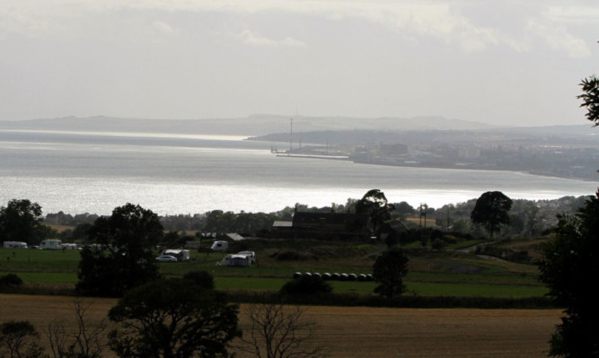 Largo Bay looking towards Leven.