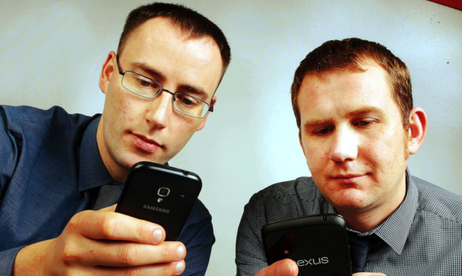 The Courier's Graham Huband and Stefan Morkis put rival texting methods to the test.