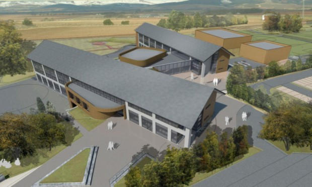 An artists impression of what the new Mearns Academy will look like when completed.