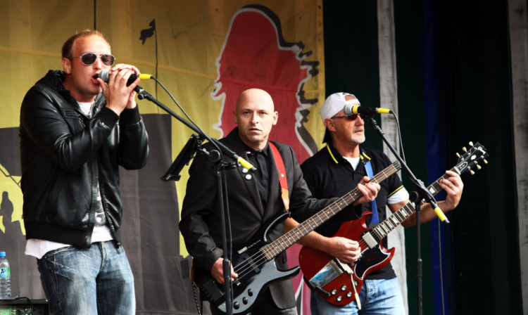 Sanctuary on stage at the Brechin Music Festival.