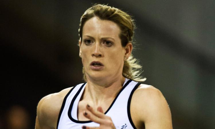 26/01/13 BRITISH ATHLETICS GLASGOW INTERNATIONAL MATCH EMIRATES ARENA - GLASGOW Scotland's Eilidh Child takes part in the womens 400m race.
