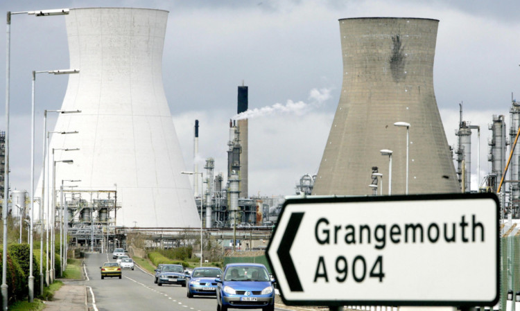 The INEOS refinery at Grangemouth.