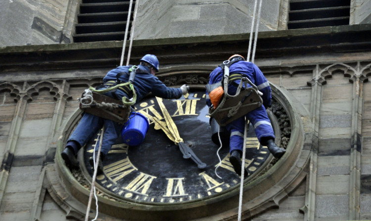More damage has been found as workmen repair and renovate the clockface and tower.