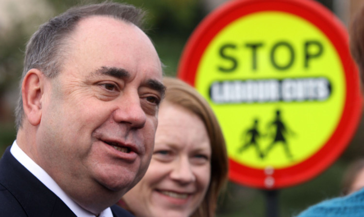 Alex Salmond campaigning in Fife with candidate Shirley-Anne Somerville.
