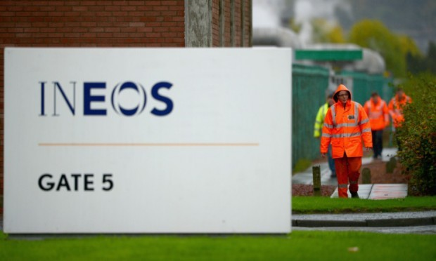 GRANGEMOUTH, SCOTLAND - OCTOBER 22:  Workers at the Grangemouth refinery and petrochemicals plant on October 22, 2013 in Grangemouth, Scotland. Ineos who operate the oil refinery are set to hold a meeting with shareholders to decide the future of the plant, following over half the workers rejecting new terms and conditions.  (Photo by Jeff J Mitchell/Getty Images)