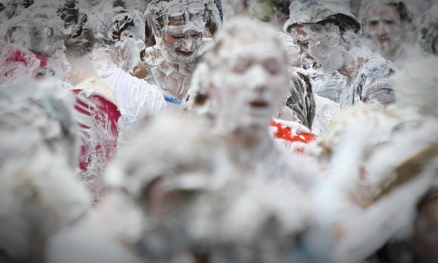Raisin Weekend ends with the traditional foam fight on Monday. But it is behaviour earlier in the weekend that has led to complaints from locals.