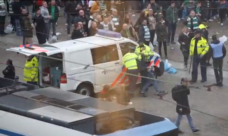 Police said 44 were arrested following trouble in Amsterdam.