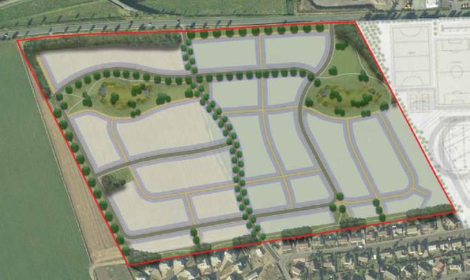 A masterplan impression for the Elite Homes Turfbeg proposal.