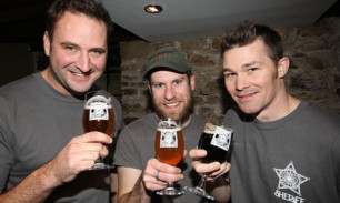 From left;  Tim Butler (director), Bob Phaff (brewer) and Jordan Cowles (general manager).