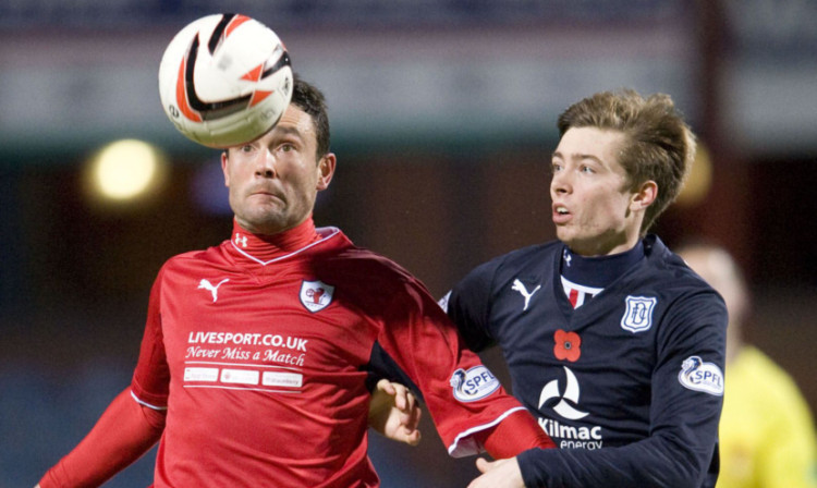 Craig Wighton fighting for possession on Saturday.