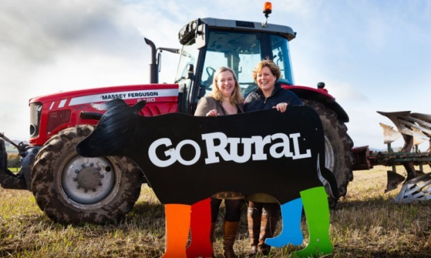 Showing the way: Caroline Millar and Linda Tinson aim to highlight the potential of agritourism in Scotland.