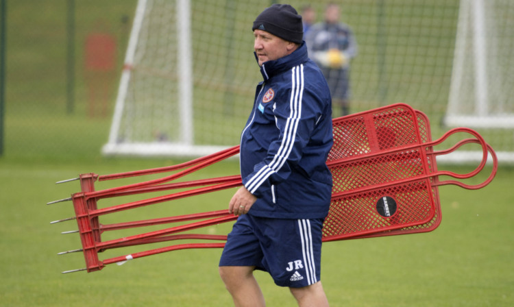 John Robertson has been working as a coach with Hearts.