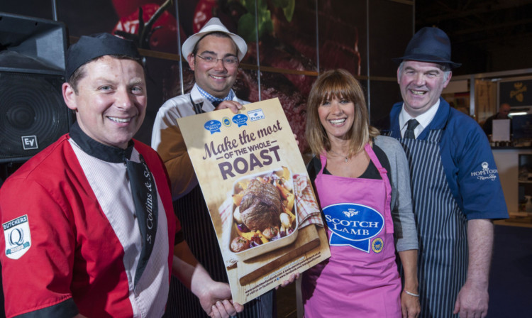 Scotch Butchers Club members Stewart Collins, Nigel Ovens and Derek Mackintosh joined Carol Smillie to launch the Make the Most of Your Whole Roast campaign at the BBC Good Food Show in Glasgow recently