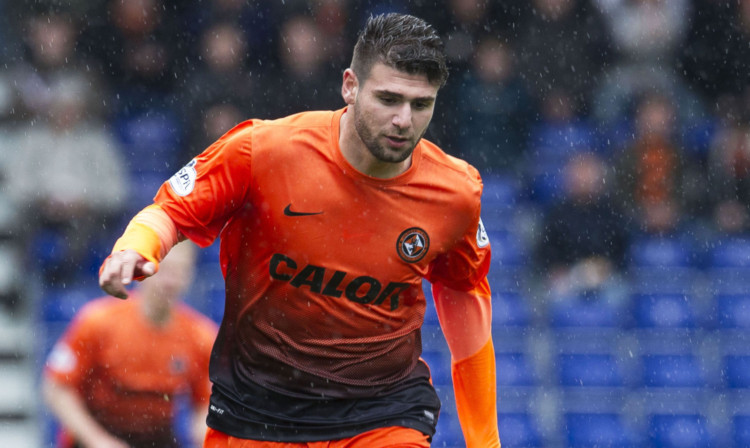 Nadir Ciftci in action for Dundee United.