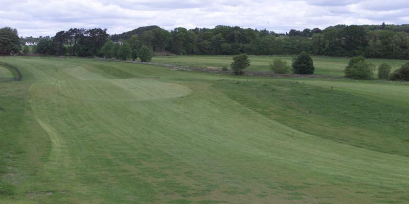 D Jamieson tele features 8/6 Ballumbie GC. The first and eighteenth fairways at Ballumbie Castle Golf Club.